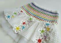 Hermosos modelos de faldas tejidas a crochet para niña