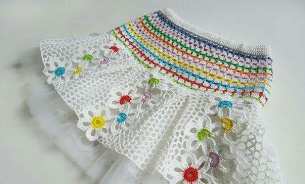 faldas tejidas a crochet para niñas facil