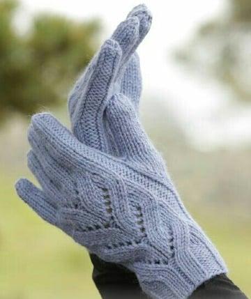 fotos de como tejer guantes paso a paso