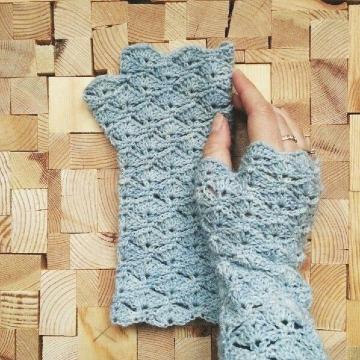 ideas de como tejer mitones a crochet