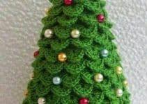 Pequeños y adorables adornos de navidad tejidos a crochet