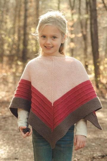 imagenes de como tejer un poncho para niña