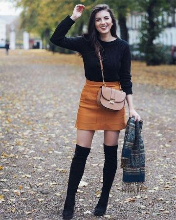 imagenes de como usar faldas en invierno