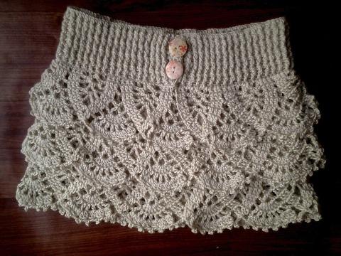imagenes de faldas tejidas a crochet para niñas