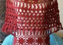 Modelos de blusas tejidas con horquilla para damas