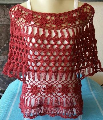 modelos de blusas tejidas con horquilla