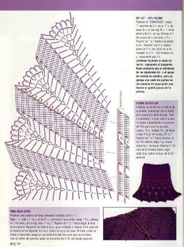 modelos de patrones de faldas tejidas a crochet