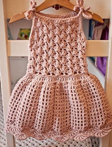 modelos vestidos a crochet para niñas de 2 años