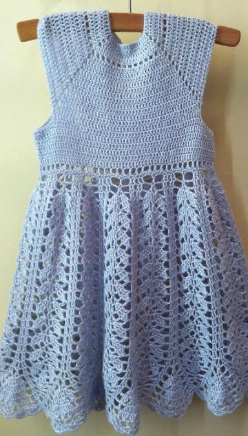 vestidos a crochet para niñas de 2 años faciles