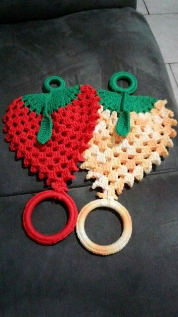 adornos tejidos a crochet para cocina faciles