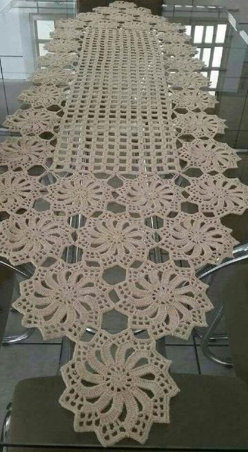 caminos de mesa tejidos a gancho faciles
