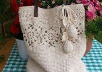 Grandiosos diseños de bolsas tejidas a crochet paso a paso