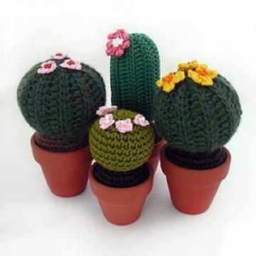 como hacer cactus a crochet faciles