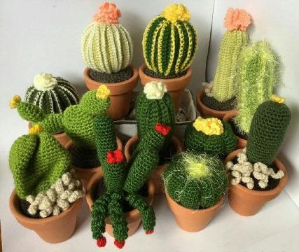 como hacer cactus a crochet para decoracion