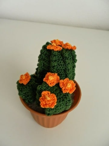como hacer cactus de ganchillo facil