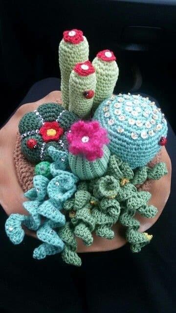 como hacer cactus de ganchillo para decoracion