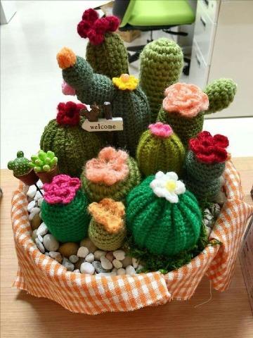 como hacer cactus de ganchillo paso a paso