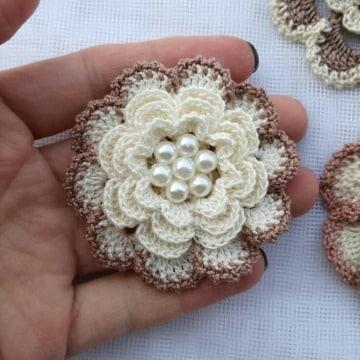como hacer flores de crochet faciles