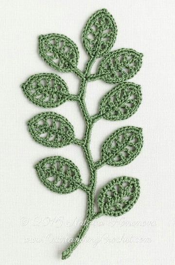 como hacer hojas tejidas a crochet