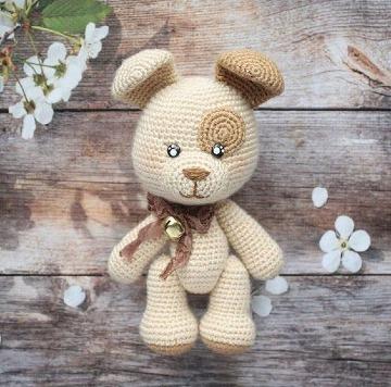 como hacer perros tejidos a crochet paso a paso