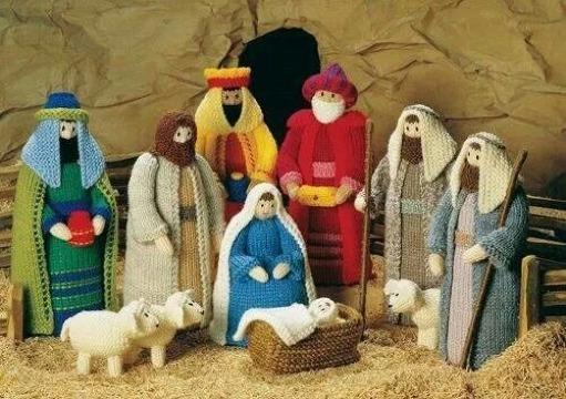 como hacer pesebres navideños tejidos a crochet