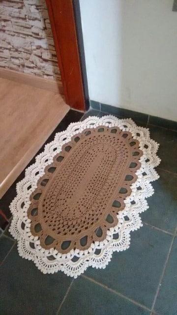 como hacer tapetes ovalados tejidos a crochet