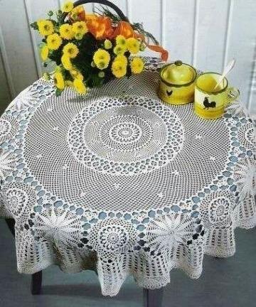 como hacer un mantel a crochet facil