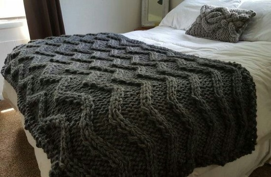 como hacer una manta de lana bonita