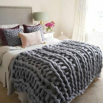 como hacer una manta de lana facil