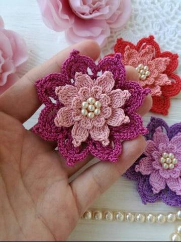 disreños de flores de crochet faciles