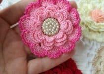 Hermosas flores de crochet faciles de 4 diseños