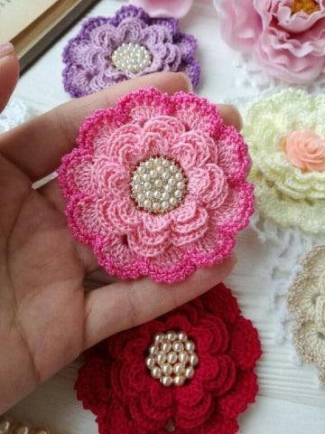 flores de crochet faciles y bonitas
