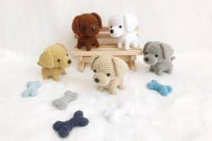 Curiosos perros tejidos a crochet paso a paso