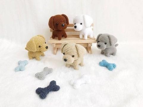 fotos de perros tejidos a crochet paso a paso