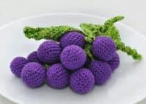 Pasos para crear 4 frutas tejidas a crochet patrones