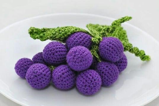 frutas tejidas a crochet patrones gratis