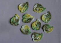 4 nudos diferentes para hacer hojas tejidas a crochet