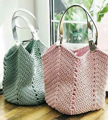 Grandiosos dise os de bolsas tejidas a crochet paso a paso - Como hacer bolsos tejidos ...