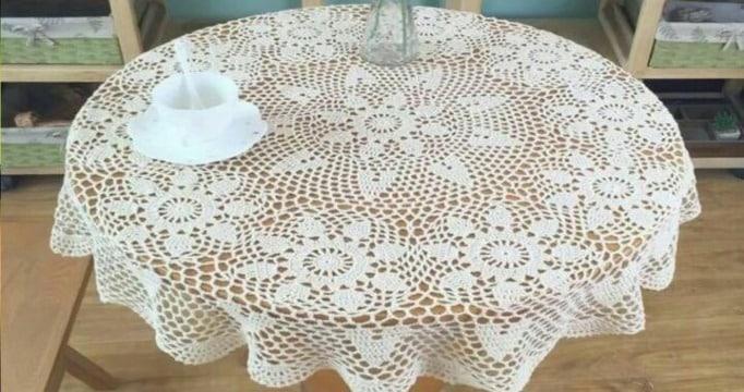 imagenes de como hacer un mantel a crochet
