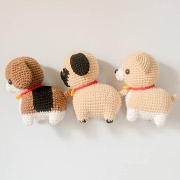 imagenes de perros tejidos a crochet paso a paso