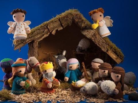 imagenes de pesebres navideños tejidos a crochet