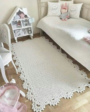 imagenes de tapetes a crochet rectangulares