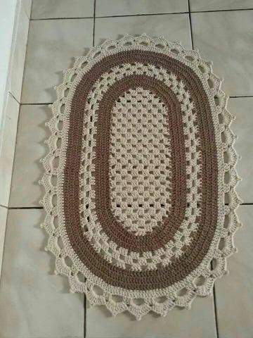 imagenes de tapetes ovalados tejidos a crochet
