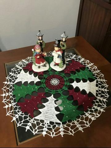 modelo de como hacer un mantel a crochet