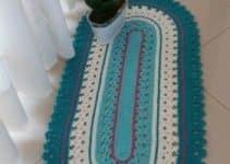 4 diseños de tapetes ovalados tejidos a crochet