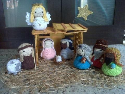 pesebres navideños tejidos a crochet facil