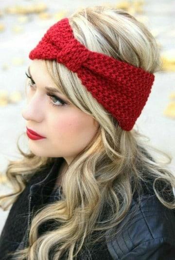 bandas para el cabello tejidas para mujer