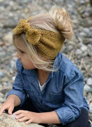 bandas para el cabello tejidas para niñas