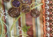 Hermosos bordados en pedreria paso a paso usando 4 elementos