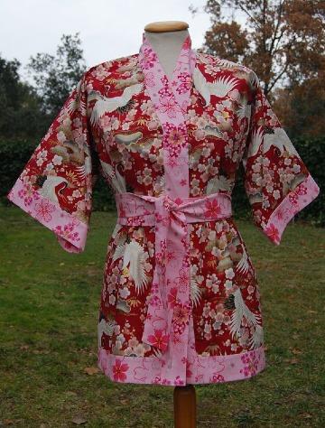 como hacer kimonos cortos japoneses